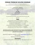 BHWC Forage Seminar Brochure